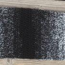 Crocheted Black & White Ombré Scarf