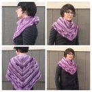 Shades of Purple Crocheted Shawl Scarf