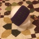 Purple and Metallic Gray Knit Headband Ear Warmer