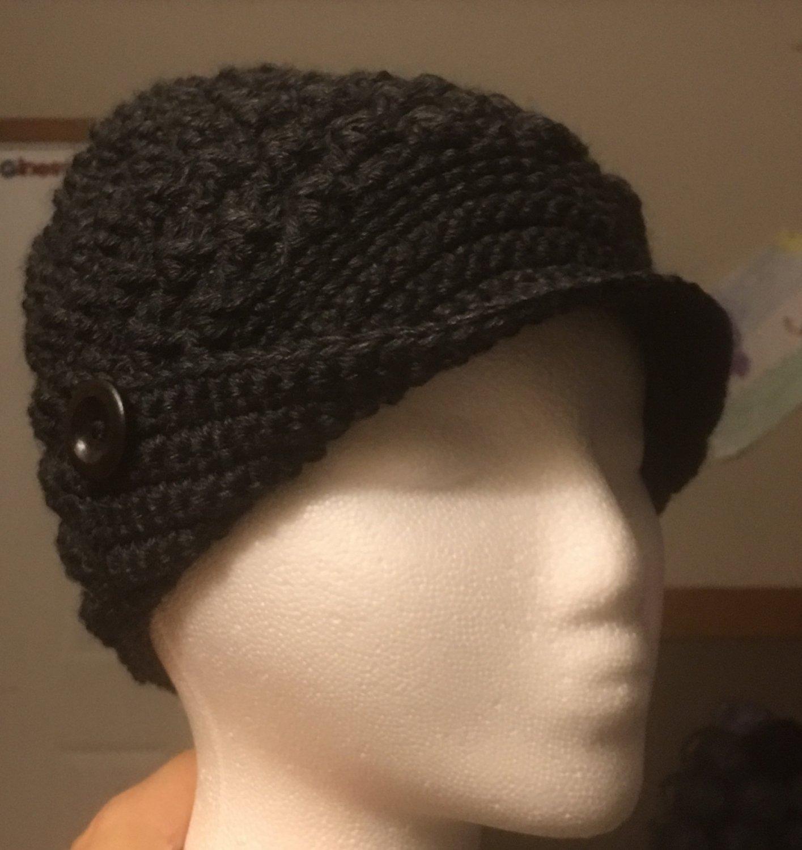 Black Peaked Hat