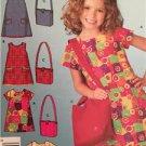 # Simplicity Sewing Pattern 4927 Girls Childs Dress Bag Size 3-8 New Uncut