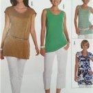 Burda Sewing Pattern 7645 Misses Ladies T-Shirt Size 10-22 New