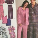 Simplicity Sewing Pattern 3971 Mens Misses Pajamas Tank Top Size S-L Uncut New