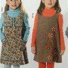 Burda Sewing Pattern 9675 Toddler Girls Jumper Size 3-9 New