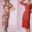 Butterick Sewing Pattern 6266 Ladies Misses Dress Size 6-14 1940's New