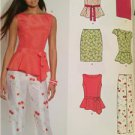 New Look Sewing Pattern 6130 Ladies Misses Top Pant Skirt Size 8-18