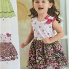# New Look Sewing Pattern 6277 Toddler Dress Fabric Variations Size 1/2-4 New