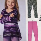 McCalls Sewing Pattern 6827 Childrens Girls Tops & Leggings Size 6-8 New