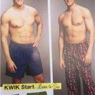 Kwik Sew Sewing Pattern 3793 Mens Pajamas Sleep Pants Shorts Size S-XXL New