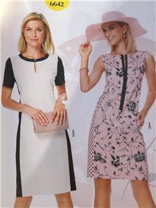 Burda Sewing Pattern 6642 Misses Dress Size 8-18 New