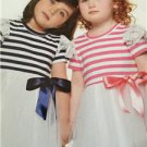 # New Look Sewing Pattern 6331 Toddler Girl Dress Knit Bodice Size 1/2-4 New