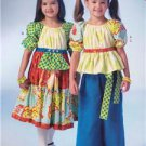 McCalls Sewing Pattern 7040 Children Girls Tops Dresses Pants Size 2-5 New