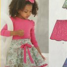 New Look Sewing Pattern 6258 Childs Girls Circle Skirts Size 3-12 New