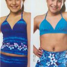 Kwik Sew Sewing Patterns 3605 Girls Childs Swimwear  Size 4-14 XS-XL New