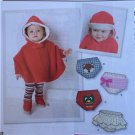 Simplicity Sewing Pattern 1734 Babies Child Poncho Accessories New
