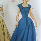 Butterick Sewing Pattern 6211 Misses Retro 1953 Dress Belt Size 6-14 New Vintage