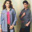 McCalls Sewing Pattern 6613 Misses Mens Shirts Size 46-56 XL-XXXL New