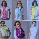 Simplicity Sewing Pattern 2170 Accessories Scarves New