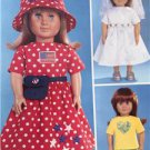 """Butterick Sewing Pattern 3875 18"""" Doll Clothes Dress Top Pants Skirt New"""