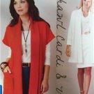 Kwik Sew Sewing Pattern 3916 Misses Shawl Cardi & Vest Size XS-XL New