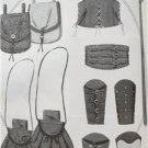Butterick Sewing Pattern 5371 Costume Misses Mens Bracers Corset Pouches New