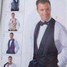 McCalls Sewing Pattern 4321 Mens Lined Vest Bow Tie Cummerbund Size S-L 34-44