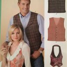 New Look Sewing Pattern 6839 Misses Mens Vest/Waistcoat Size 8-18 XS-XL New