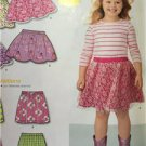 New Look Sewing Pattern 6172 Childs Girls Classic Pull On Skirt Size 3-8 New