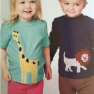 **Ellie Mae Designs Sewing Pattern K0133 Zoo-Do Toddler Top Pants Shorts 1-4 New