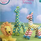 ** Ellie Mae Designs Sewing Pattern K0211 Fun Fabric Friends Lion Giraffee New