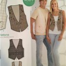 New Look Sewing Pattern 6036 Ladies Misses Mens Vest Size 6-16 XS-XL New