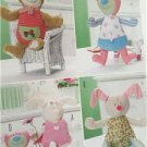 Burda Sewing Pattern 7409 24-29cm Soft Toy Bear Rabbit New Craft Home Decorating