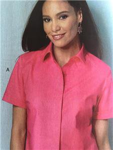 Butterick Sewing Pattern 6070 Misses Ladies Camp Shirt Size XXL-6X Connie Crawford