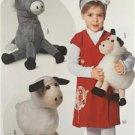 Burda Sewing Pattern 7038 Soft Toys Donkey Sheep Uncut New