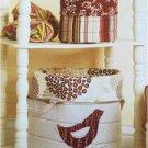 Kwik Sew Sewing Patterns 3938 Noras Nesting Baskets Size XS-XL New