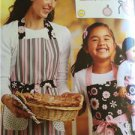 "** Ellie Mae Designs Sewing Pattern K0103 Misses Girls 18"" Doll Matching Aprons"