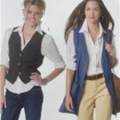 McCalls Sewing Pattern 2260 Misses Unlined Vests Two Lengths Size L 16-18 New