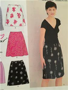 New Look Sewing Pattern 6843 Ladies Misses Skirts Size 8-18 New