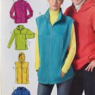 McCalls Sewing Pattern 5252 Misses Mens Unlined Vest Jackets Size XL-XXXL New