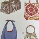 Kwik Sew Sewing Patterns 3171 Unlined & Lined Tote & Hobo Bags New