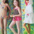 Kwik Sew Sewing Patterns 3998 Girls Childs Swimsuits Cover Ups Size  XXS-L New