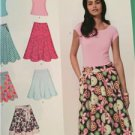 New Look Sewing Pattern 6899 Misses Ladies Skirts and Knit Top Size 10-22 New
