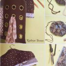 Kwik Sew Sewing Patterns 4147 Travel Accessories Drawstring Pouch Hanger New