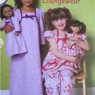 "** Ellie Mae Designs Sewing Pattern K0191 Girls 18"" Doll Matching Loungewear New"