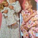 "** Ellie Mae Designs Sewing Pattern K0157 Girls 18"" Doll Matching Loungewear New"