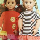 "Kwik Sew Sewing Patterns 3965 18"" Doll Clothes Purse Dress Pants New"