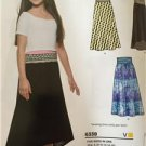New Look Sewing Pattern 6338 Childs Girls Easy & Knit Skirts Size 8-16 New
