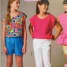 McCalls Sewing Pattern 6917 Girls Childs Top Pants Shorts Size 7-14 New