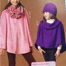 McCalls Pattern 7012 Childrens Girls Ponchos Hat Scarf Size 7-16 New
