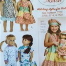 "Kwik Sew Sewing Patterns 3771 18"" Doll Clothes Dress Hat Pajamas New"